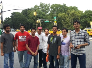 After an intense (relatively) Frisbee Session at Central Park