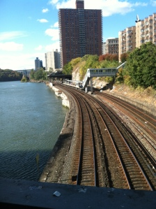 Harlem River - totally reminds me of Bandra-Mahim Creek