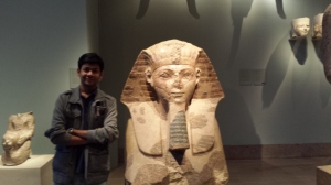 Hangin' out with this cool Egyptian King