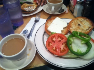 Coffee and Bagels with Cream Cheese - there can be few better ways to start the day