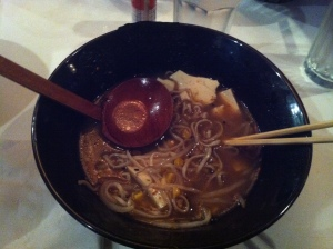 Eating Ramen with chopsticks is an ancient japanese art I'm sure - they're so slippery!